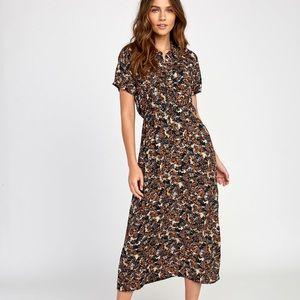 RVCA maxi floral dixi dress